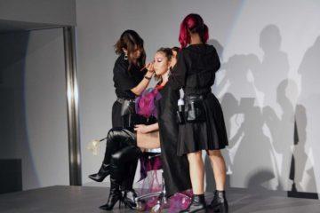 ハロウィンをテーマにしたヘアメイクショーで盛り上がりました!